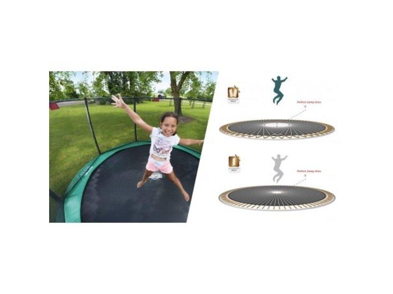 BERG Elite inground trampoline 430cm Deluxe XL Grijs/Groen /Rood