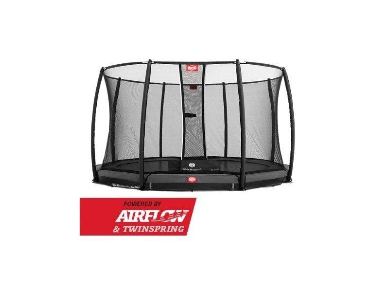 BERG Trampoline Champion Inground 430 + Safetynet DLX XL Grijs