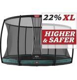 BERG Trampoline Champion Inground 430 + Safetynet DLX XL Groen