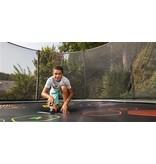 BERG Trampoline Elite Regular 430  Levels + Safety Net DLX XL Grijs