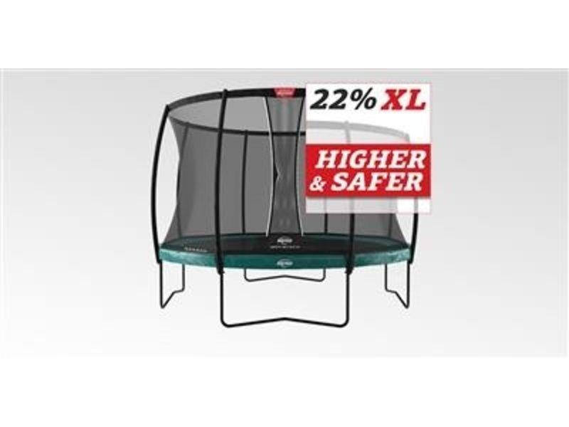 BERG Trampoline Elite Regular 430 + Safetynet Deluxe XL Groen