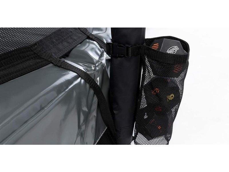 BERG Trampoline Elite Regular 430  Levels + Safety Net DeLuxe Grijs