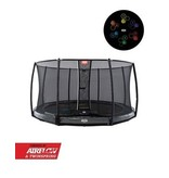 BERG trampoline Elite InGround 430 Levels + Safety Net De Luxe Grijs