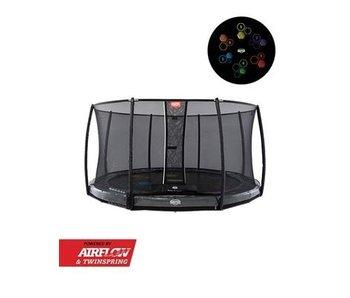 BERG Elite InGround 430 Levels + Safety Net De Luxe Grijs