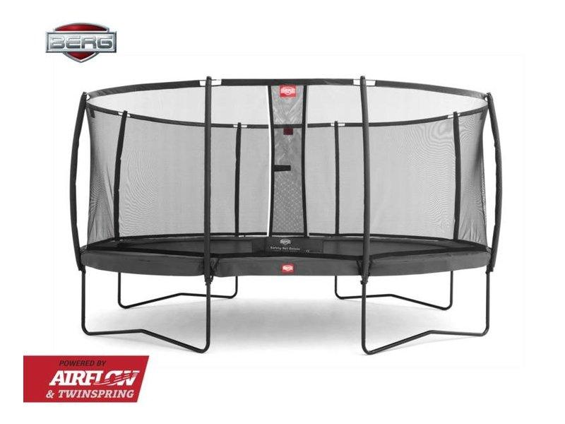 BERG Trampoline Champion Regular 430 + Safety Net Deluxe Grijs