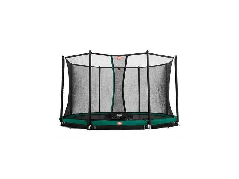 BERG Trampoline Favorit InGround 430 + Safety Net Comfort Groen