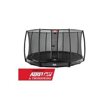 BERG Elite InGround 380 + Safety Net Deluxe Groen/Grijs/Rood