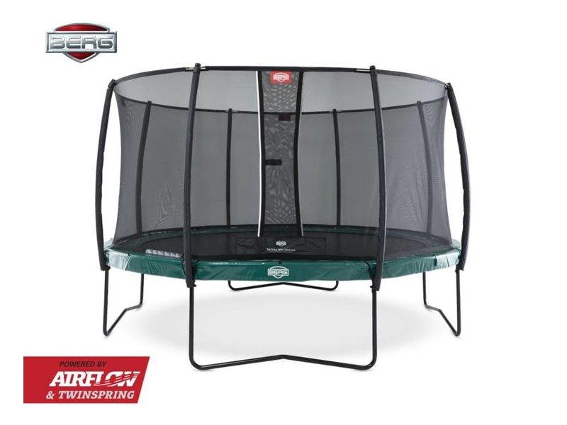 BERG trampoline Elite Regular 330 + Safety Net Deluxe Grijs