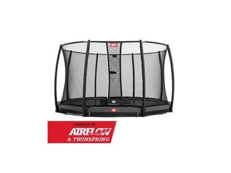 BERG Trampoline Champion InGround 430 + Safety Net Deluxe Grijs