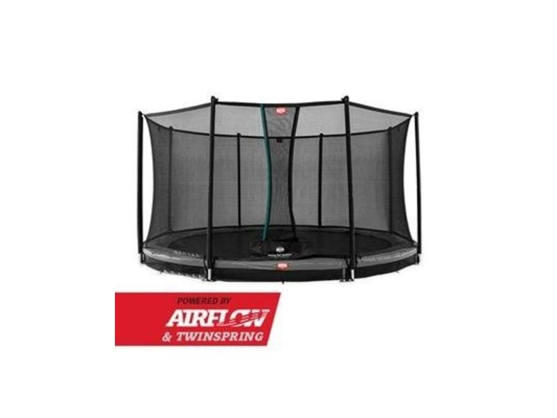 BERG Trampoline Champion InGround 430 + Safety Net Comfort Grijs