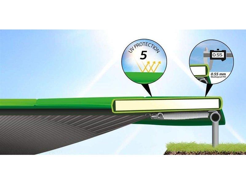 BERG Trampoline Champion InGround 330 + Safety Net Comfort Grijs/Groen