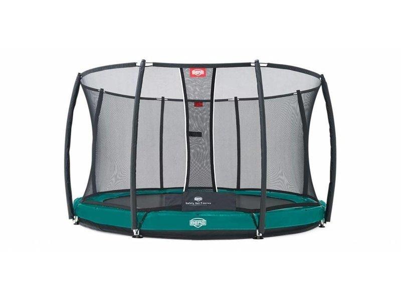 BERG trampoline Elite InGround 330 + Safety Net de Luxe Groen