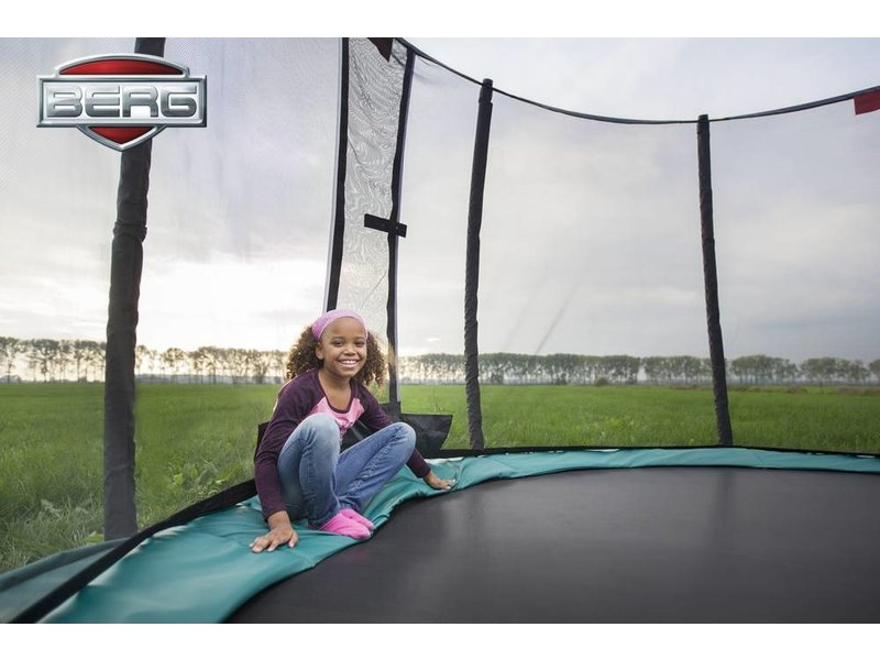BERG Trampoline Champion Inground 380 + Safety Net Deluxe Groen