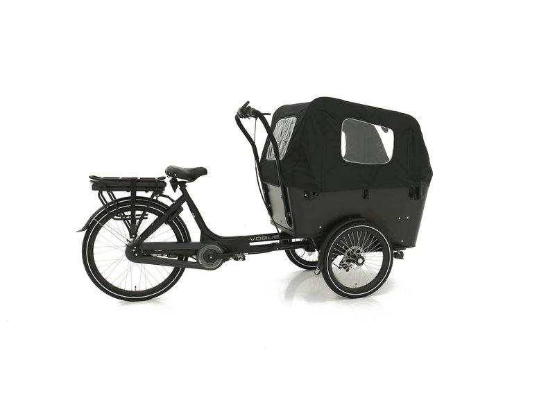 Vogue  E-bike bakfiets Carry Middenmotor Black/Black
