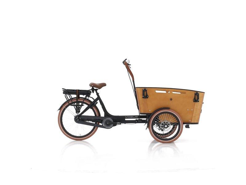 Vogue  E-bike bakfiets Carry black/brown Middenmotor