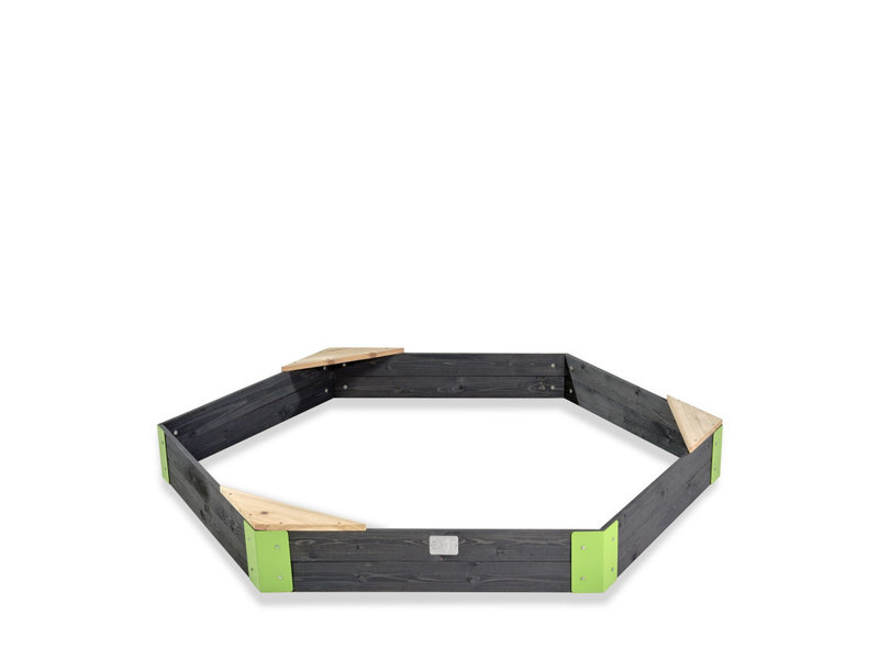 EXIT Aksent houten zandbak zeshoek 200x170cm