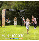 BERG Playbase 3-in-1 Medium met 2 rekstokken inclusief houten schommel en trapeze