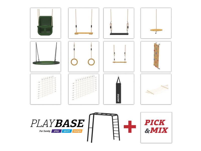 BERG Playbase 3-in-1 Medium met 2 rekstokken inclusief nestschommel