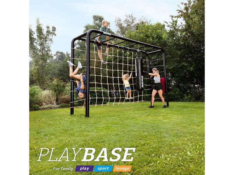 BERG Playbase 3-in-1 Medium met rekstok en ladder inclusief rubberen schommel, trapeze en klimmuur