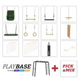 BERG Playbase 3-in-1 Medium met rekstok en ladder inclusief klimnet M en bokszak