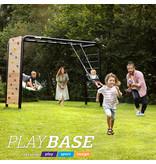 BERG Playbase 3-in-1 Large met 2 rekstokken inclusief houten schommel en trapeze