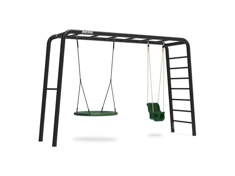 BERG Playbase 3-in-1 Large met rekstok en ladder inclusief  babyzitje en nestschommel