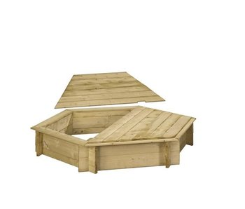 Woodvision Zeshoekige zandbak