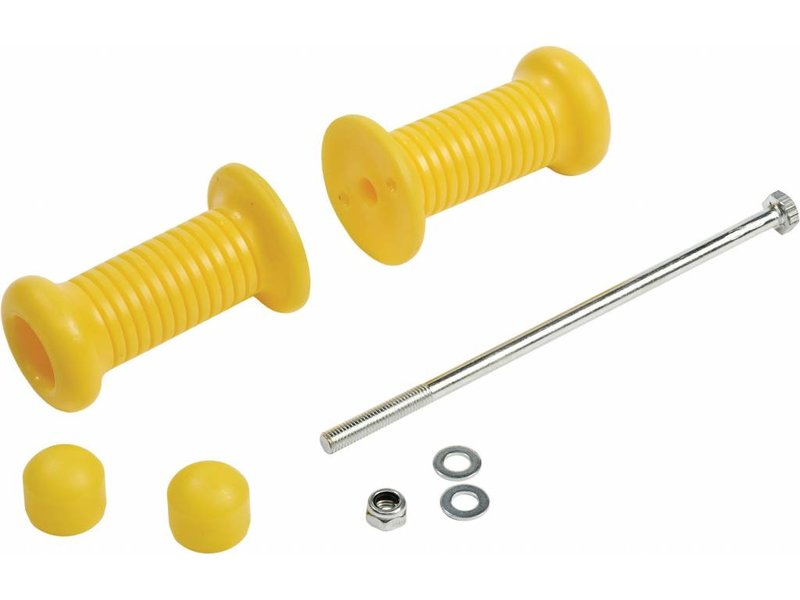 Handgrepen set en bout voor veerspeeltuig - plaatdikte 19 mm