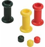 Handgrepen set (2 handgrepen, 2 bolt covers) voor veerspeeltuig - groen