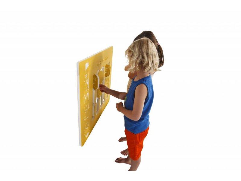 Speelpaneel 'zoek dezelfde' - geel