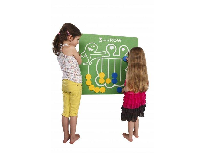 Speelpaneel '3 op een rij' - groen
