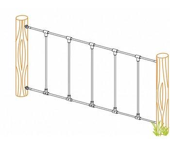 Gewapend net - 2976 x 1400 mm - groen/groen - oogbout M12 x 140 mm - B