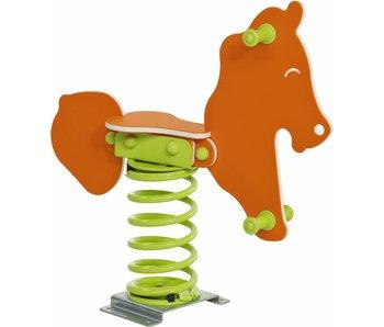 Wipkip HDPE 'safari' (speeltuig, veer & plat anker) - paard