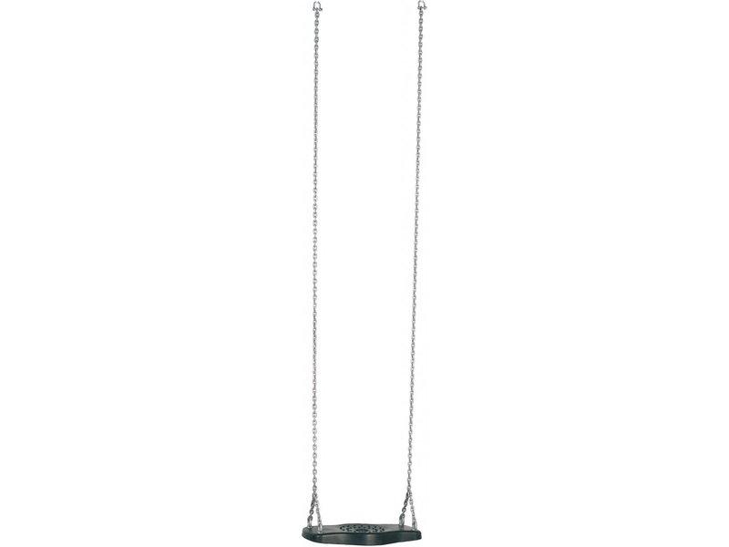Rubberen schommelzitje FORTO gegalvaniseerde kettingset 2 meter zwart