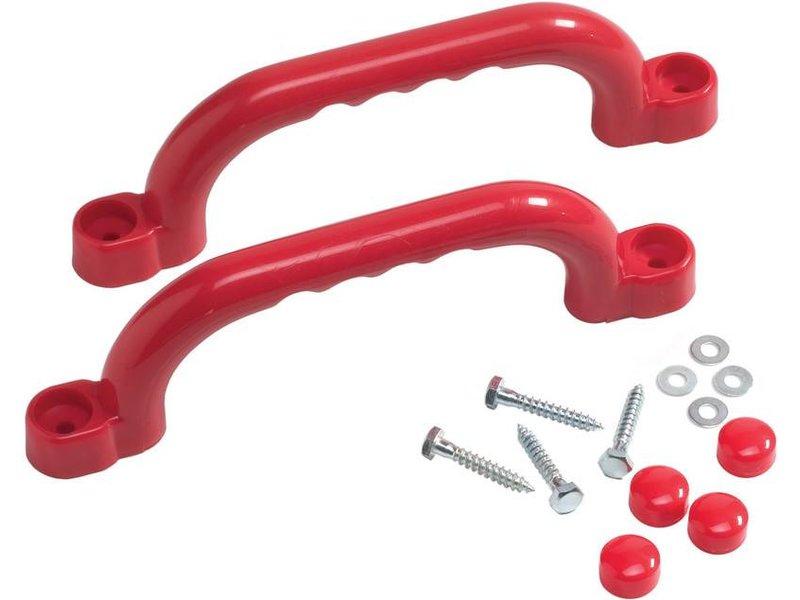 Handgrepenset in kunststof - 250 mm - rood