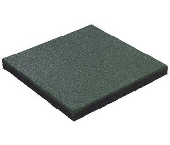 Rubberen tegel 'hicar' - dikte 45 mm - groen
