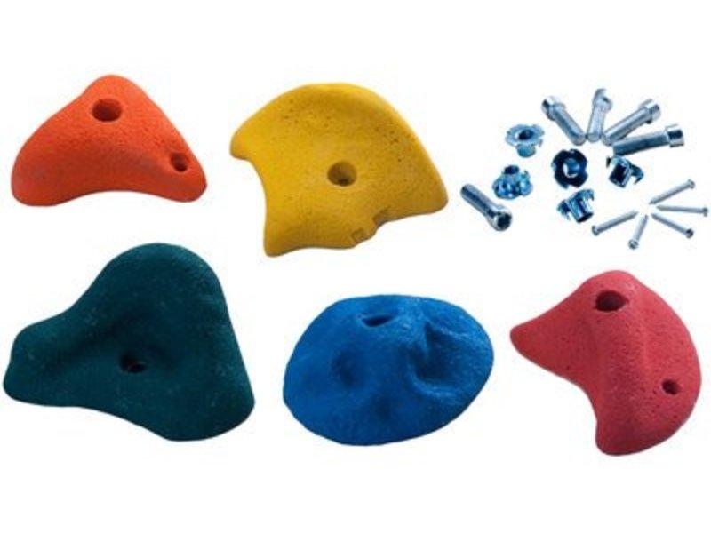 Klimstenen - set van 5 stuks - large - 5 gemengde kleuren