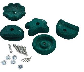 Klimstenen - set van 5 stuks - large - groen