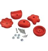 Klimstenen - set van 5 stuks - large - rood
