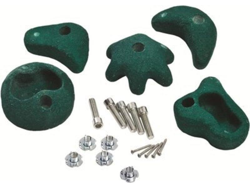 Klimstenen - set van 5 stuks - medium - groen