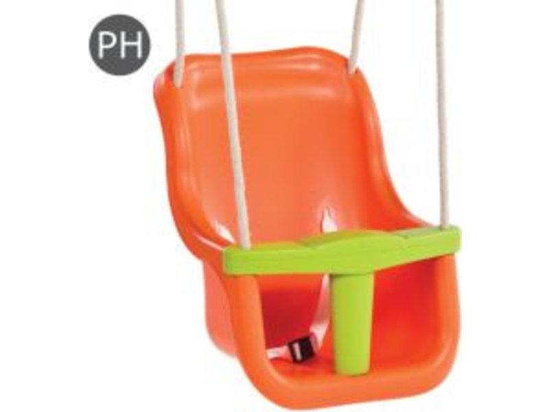 Babyzitje - 'luxe' - PH - oranje/limoen groen