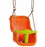 Babyzitje - 'luxe' - PP - oranje/limoen groen
