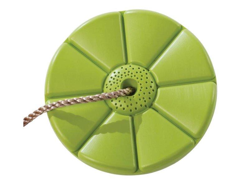 Kunststof schotelschommel limoen groen