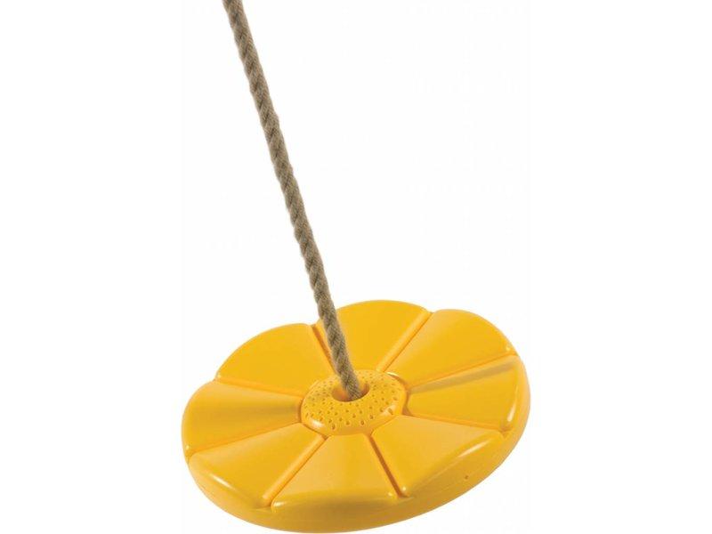 Kunststof schotelschommel geel