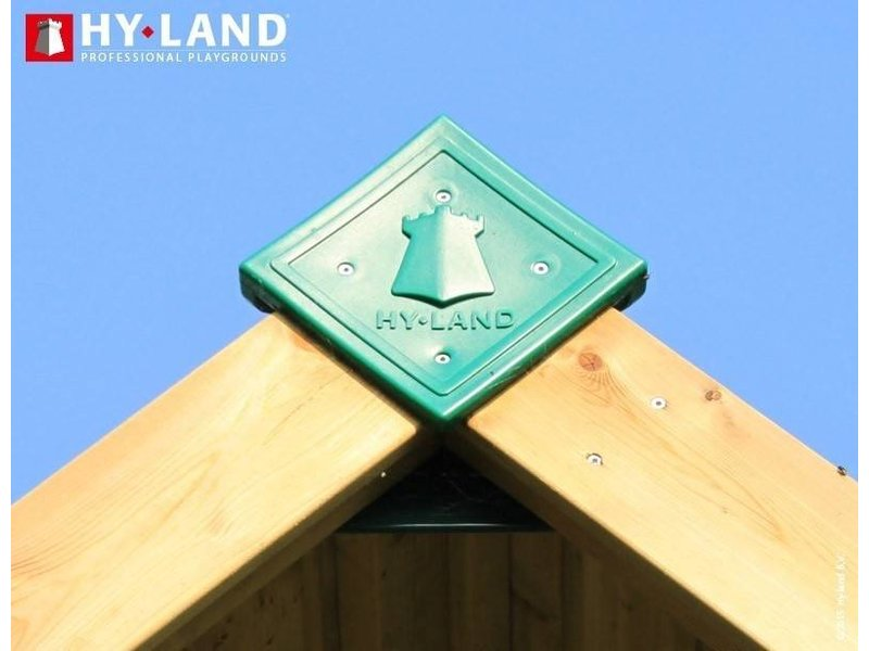 Hy-land speeltoestel P8S met schommel - RVS glijbaan