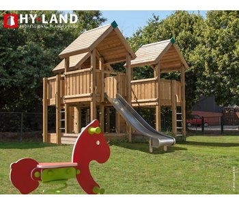 Hy-land speeltoestel P8 - RVS glijbaan