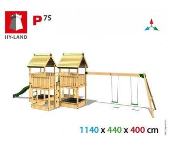 Hy-land speeltoestel P7S met schommel - Groene glijbaan