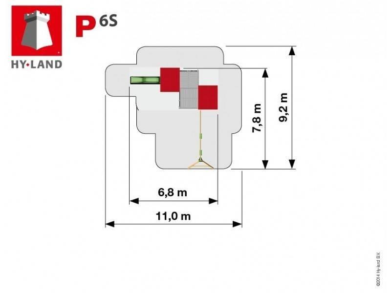 Hy-land speeltoestel P6S met schommel - Groene glijbaan