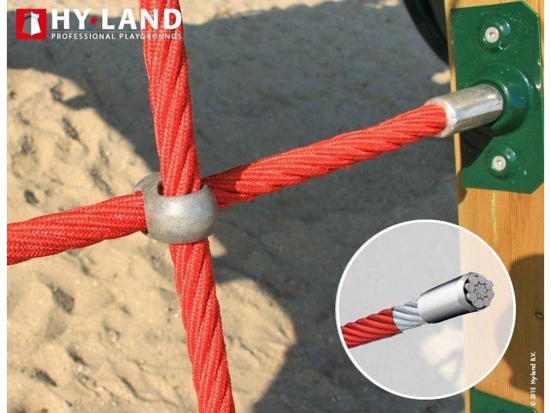 Hy-land speeltoestel Q4S - RVS glijbaan
