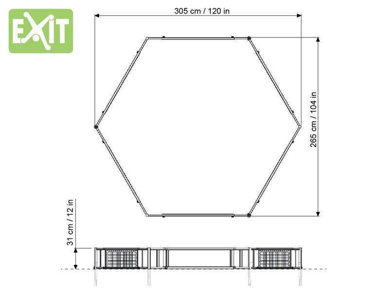 EXIT Rapido Foot-Skills-Trainer (Hexagon Rebounder Court)